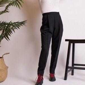 Vintage 90s black minimalist high waist trousers